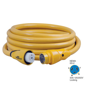 Marinco CS504-25 EEL 50A 125V\/250V Shore Power Cordset - 25' - Yellow [CS504-25]