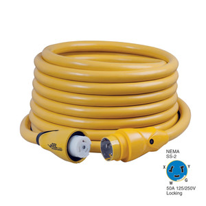 Marinco CS504-50 EEL 50A 125V\/250V Shore Power Cordset - 50' - Yellow [CS504-50]