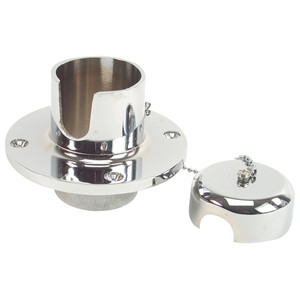 Whitecap Chain & Rope Deck Pipe - CP\/Brass [S-113C]
