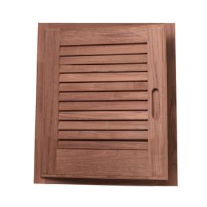 "Whitecap Teak Louvered Door & Frame - Left Hand - 15"" x 15"" [60723]"