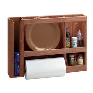 Whitecap Teak Dish\/Cup\/Paper Towel Rack [62402]