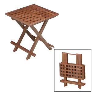 Whitecap Teak Grate Top Fold-Away Table [60030]