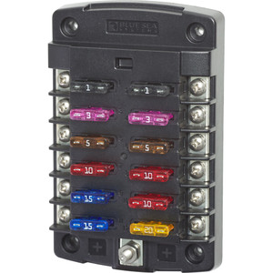 Blue Sea 5034 ST Blade Fuse Block w\/out Cover - 12 Circuit w\/out Negative Bus [5034]