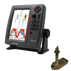 SI-TEX SVS-760 Dual Frequency Sounder 600W Kit w\/Bronze Thru-Hull Temp Transducer - 307\/50\/200T-CX [SVS-760TH1]