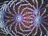 Kaleidoscope 'Dolphin Dance' in Green Glass by Joanne Jacobs