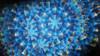 "6"" Wand Kaleidoscope-Silver/Blue"