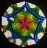 Kaleidoscope 'Marble' in Iridescent Black Glass by Sue Rioux Designs