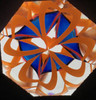 interior image of Kaleidoscope 'MarbleScope' in Ocean Blue Glass by Sue Rioux Designs