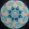 sample interior image of the Kaleidoscope - Small Oil Wand in Turquoise Blue by Koji Yamami