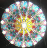 Kaleidoscope - 'Sunrise' in Pearl Iridescent Stained Glass by Kathleen Hunt
