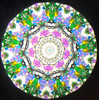 Kaleidoscope - 'Conuscope IV' in Purple Blue and White by Charles Karadimos (2018 Limited Edition #16 of 18)