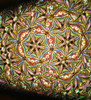 Kaleidoscope Wheel with Textured Dichroic Glass in Brass for Chesnik Kaleidoscope