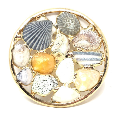 Kaleidoscope Wheel with Shells in Brass for Chesnik Kaleidoscope