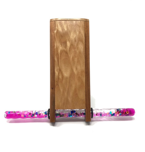 Mini Wand Kaleidoscope - Quilted Maple/Cherry Wood by Dan Land