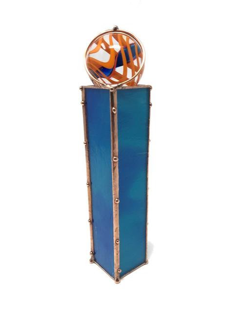 Kaleidoscope 'MarbleScope' in Ocean Blue Glass by Sue Rioux Designs
