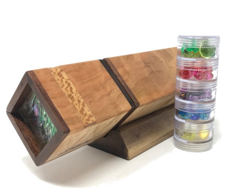 Kaleidoscope - 'Magic Act' with Turning End in Cherry/Birdseye Maple by Dan Land
