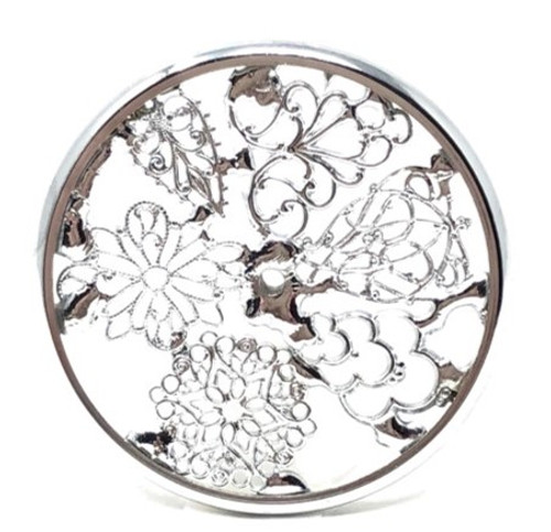 Kaleidoscope Wheel with Filigree in Chrome for Chesnik Kaleidoscope