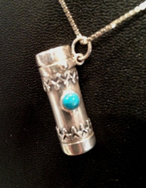 Kaleidoscope Necklace 'Saturn in Turquoise' by Kevin and Deborah Healy