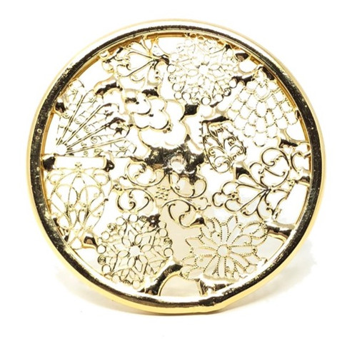 Kaleidoscope Wheel with Filigree in Brass for Chesnik Kaleidoscope