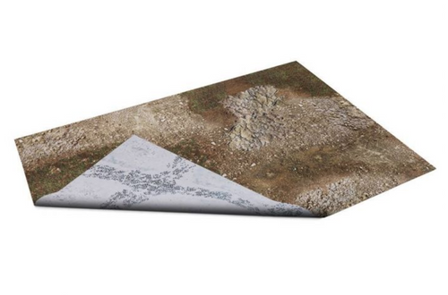 GameMat War Game Mat - Double Sided: Battleground & Winter Realm