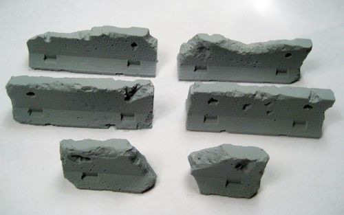Secret Weapon: TERRAIN: JERSEY BARRIERS - DAMAGED - SET OF 5