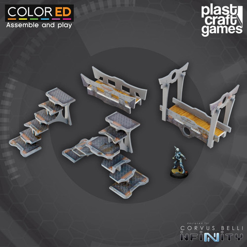Plast Craft ColorED Bridge and Stairway Set