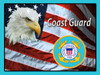 """COAST GUARD MILITARY TRIBUTE FLAG & EAGLE""  METAL SIGN"