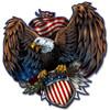 """EAGLE AND U.S. SHIELD"" METAL  SIGN"