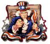 """UNCLE  SAM PATRIOT"" METAL SIGN"
