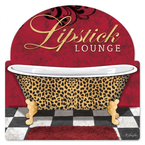 """Lipstick  Lounge""  Metal  Wall  Art"