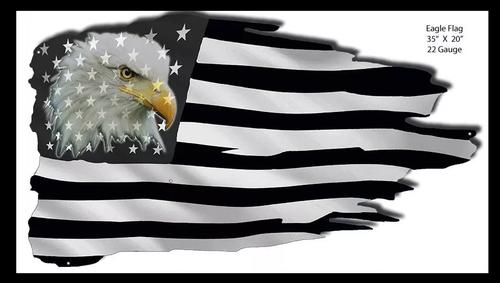 """Eagle American Flag""  Laser cut Metal Wall Art"