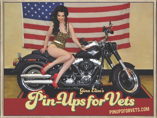 Biker Pin-Up Poster