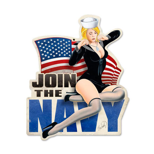 """JOIN  THE   NAVY""    METAL  SIGN"