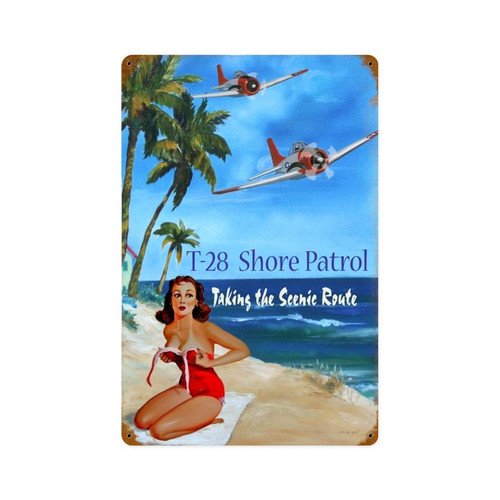 SHORE   PATROL   METAL  SIGN