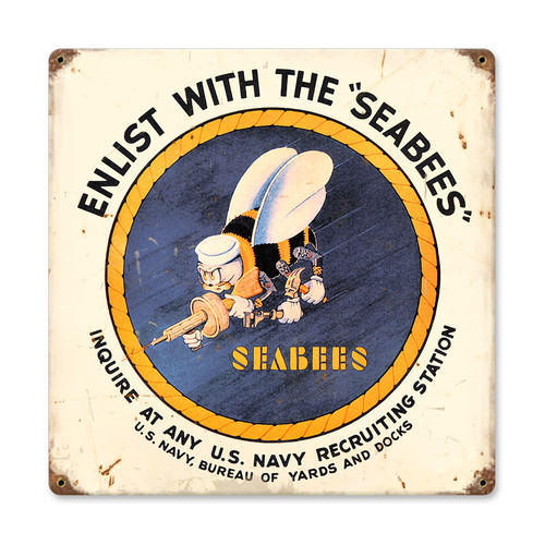 """SEA  BEES ""  METAL  SIGN"