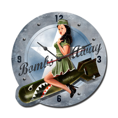 """BOMBS  AWAY""  CLOCK"