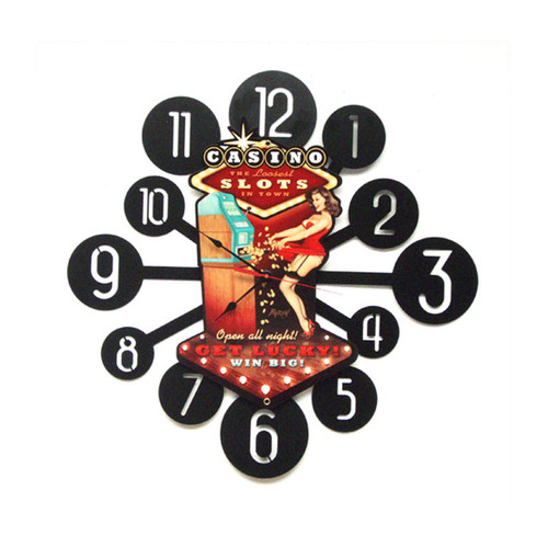 """CASINO  PINUP""  CLOCK"