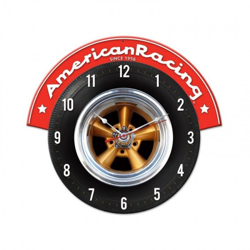 """AMERICAN  RACING  TIRE""  CLOCK"