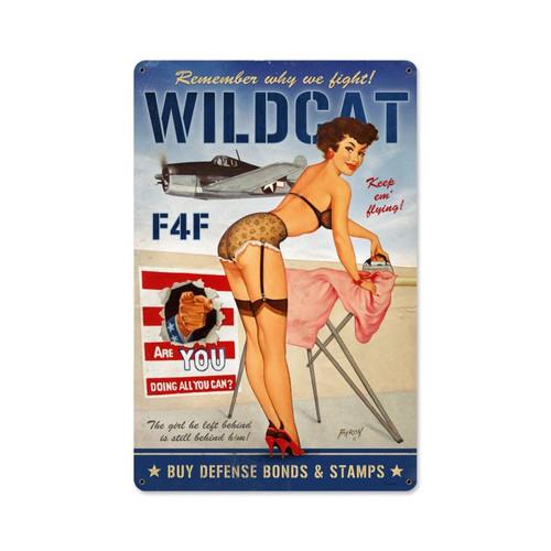 """""""Wildcat  F4F""""  Vintage Metal  Sign"""