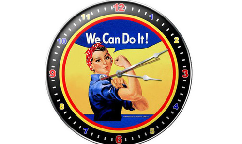 """ROSIE THE RIVETER""  CLOCK"