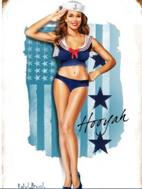 """NAVY GIRL"" METAL SIGN"