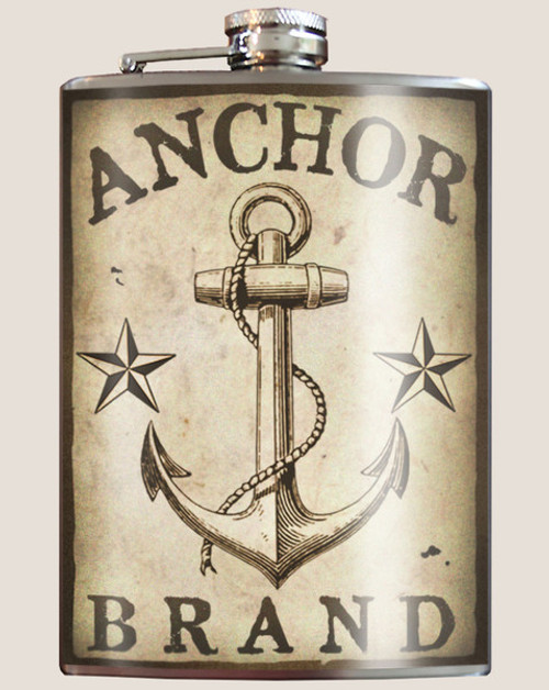 """ANCHOR  BRAND""  FLASK"