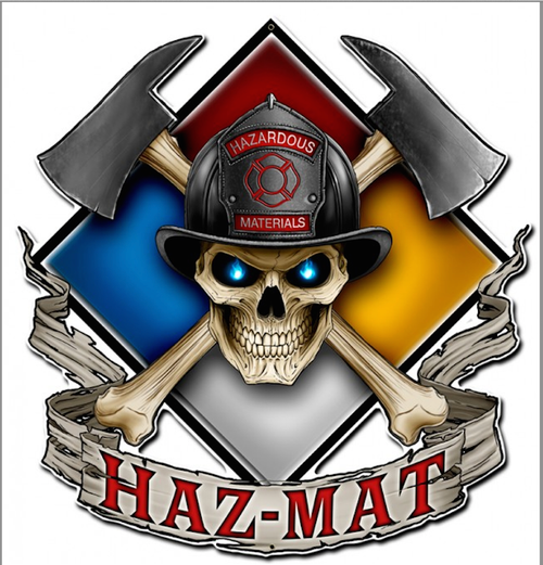 """HAZ  MAT""  METAL SIGN"