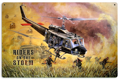 """""""RIDERS  ON  THE  STORM"""" METAL SIGN"""