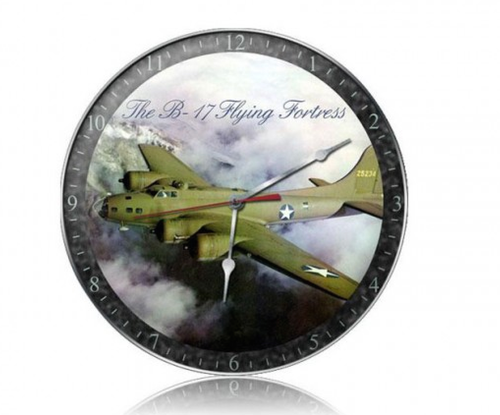 """B-17  FLYING FORTRESS"" CLOCK"