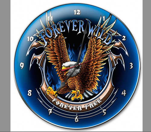 """FOREVER  FREE""  CLOCK"