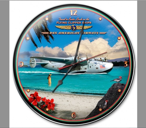 """PAN  AM  CLIPPER""  CLOCK"