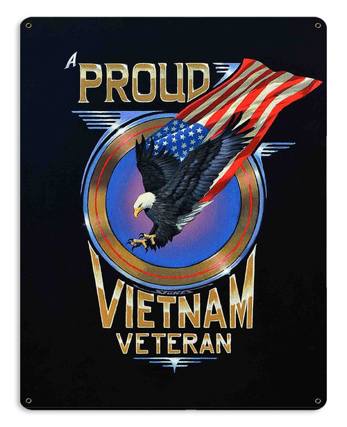 """PROUD  VIETNAM VET""  METAL  SIGN"