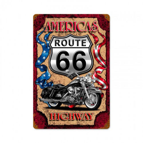 """AMERICA'S  HIGHWAY""  METAL  SIGN"