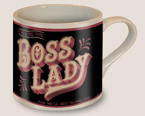 """""""BOSS  LADY""""  COFFEE  MUG"""